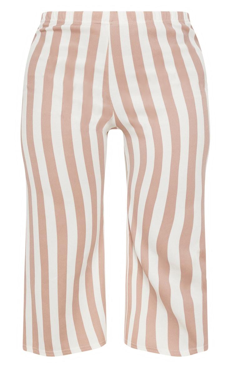 Camel Striped Culottes  3