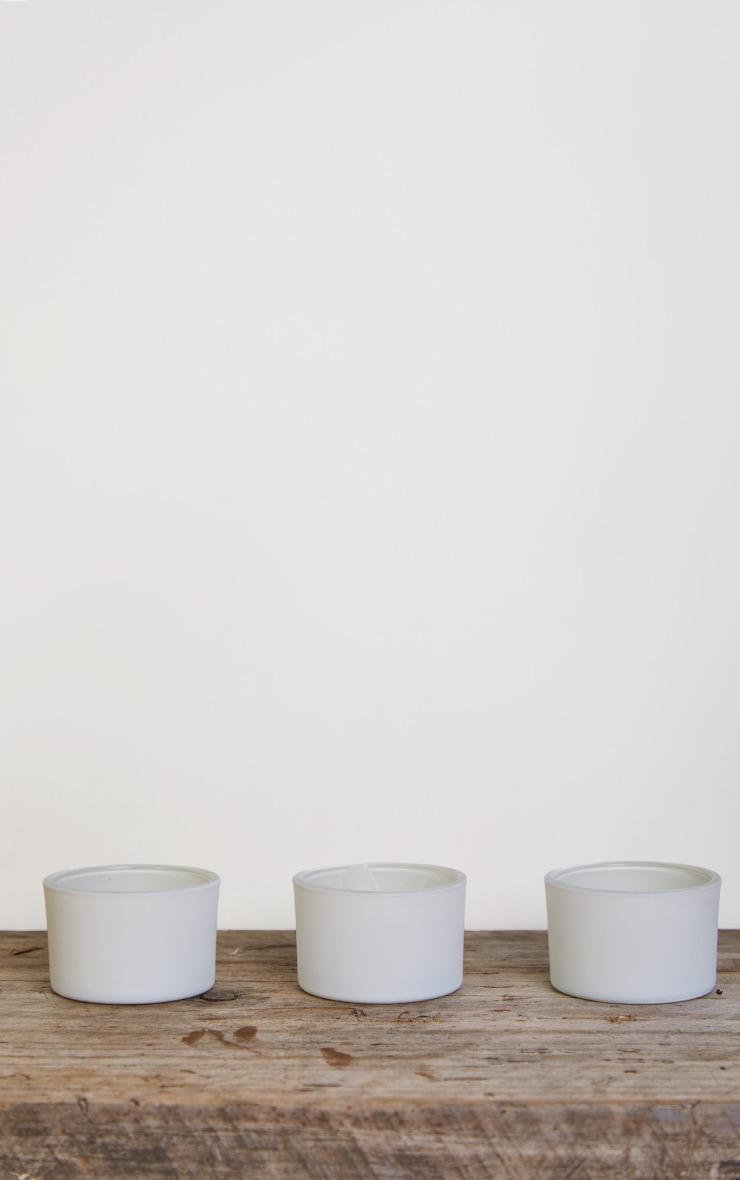 White Tea Light Holder 3 Pack 3