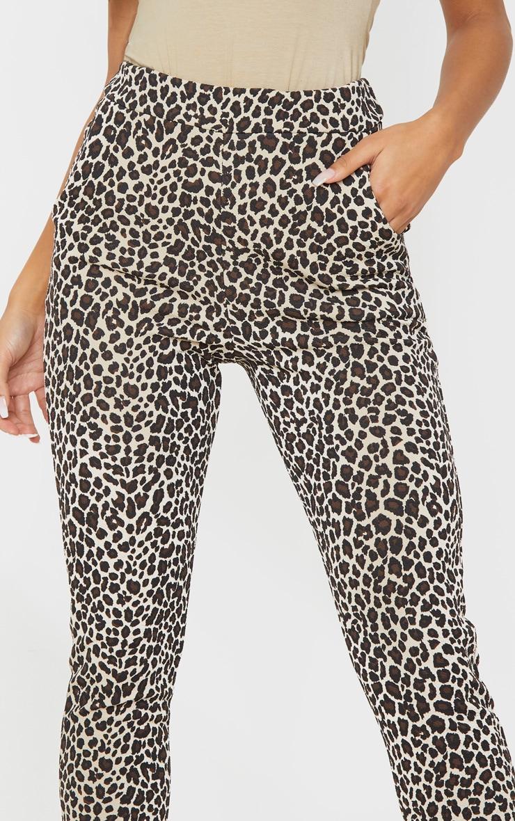 Stone  Leopard Skinny Pants 5
