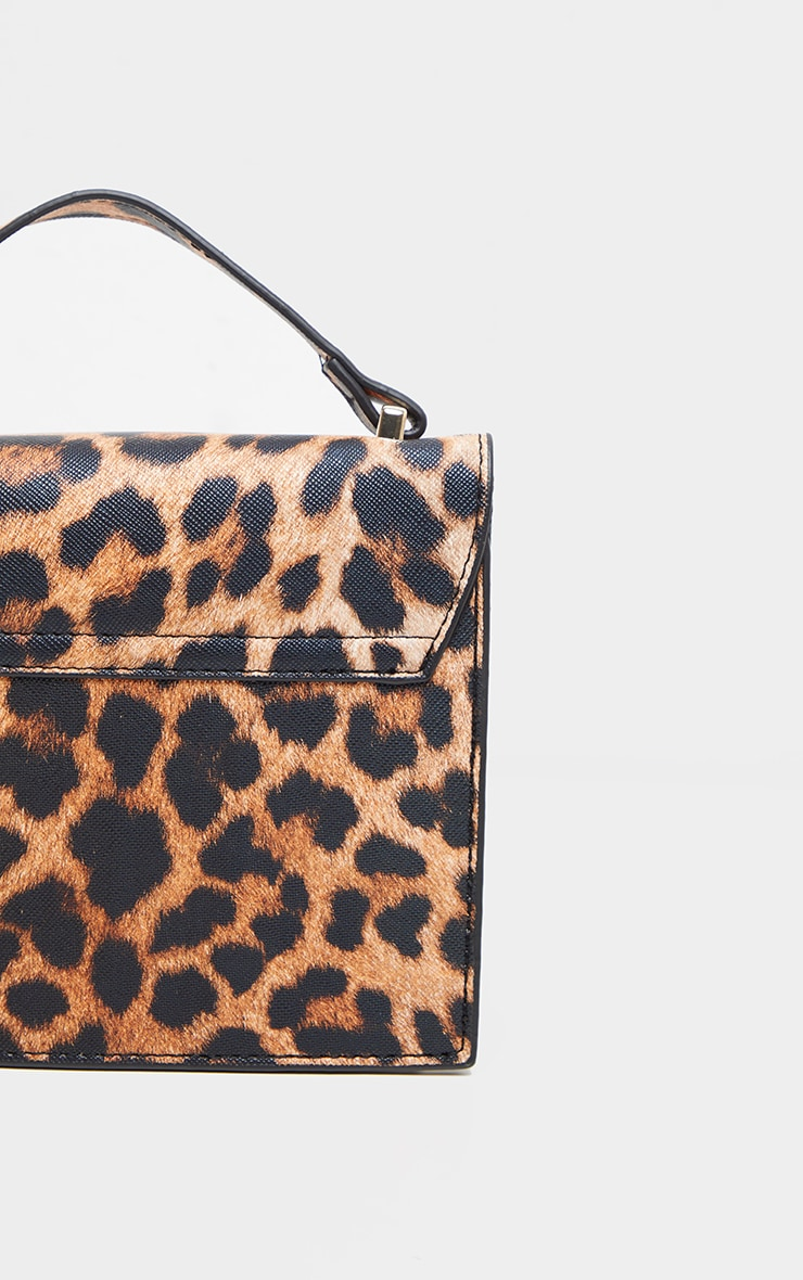 Leopard PU Box Cross Body Bag 5