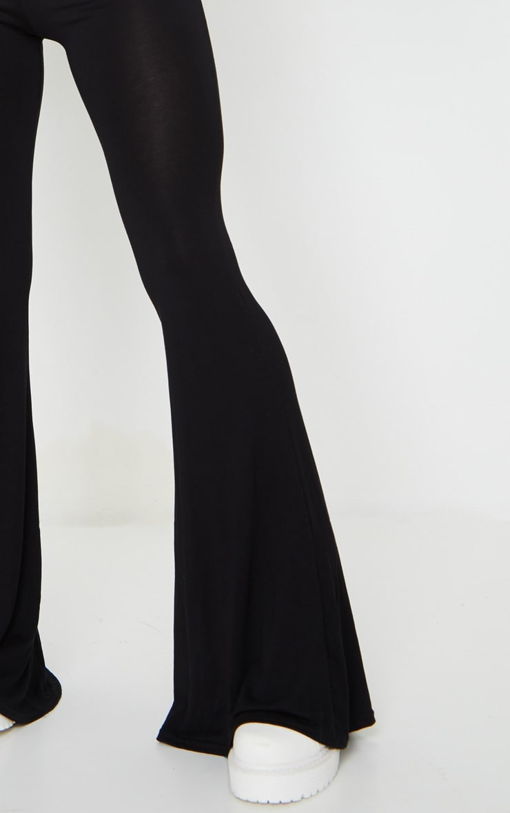 Basic Black Jersey Wide Leg Pants 4