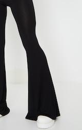 Black Jersey Flared Pants 4