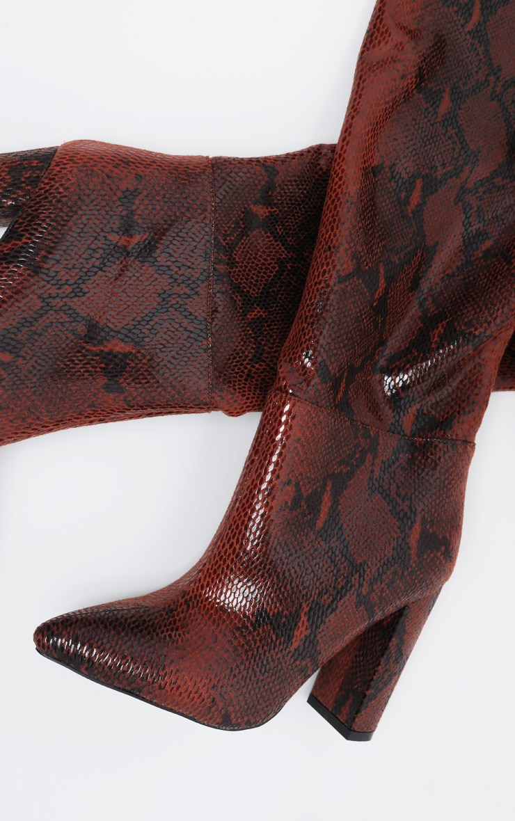 Snake Western Thigh High Boot 4