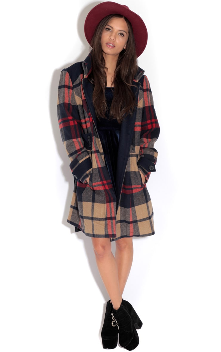 Elise Tailored Tartan Coat 2