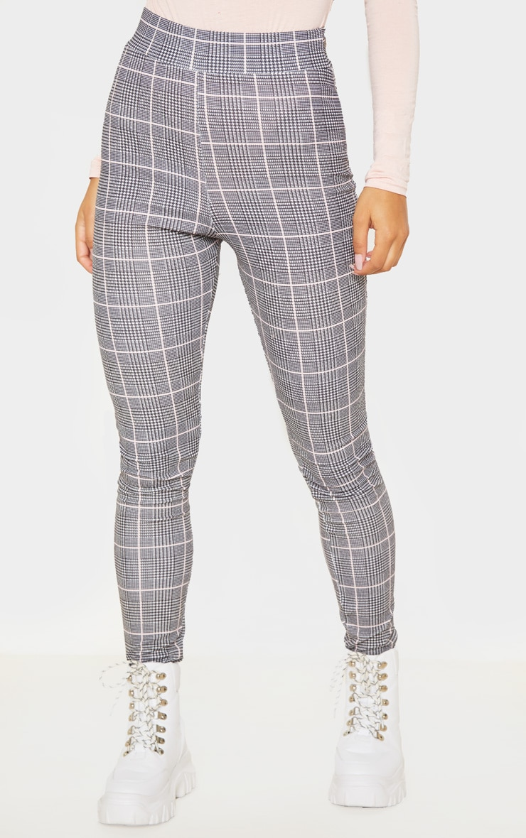 Black Check Print Skinny Pants 2