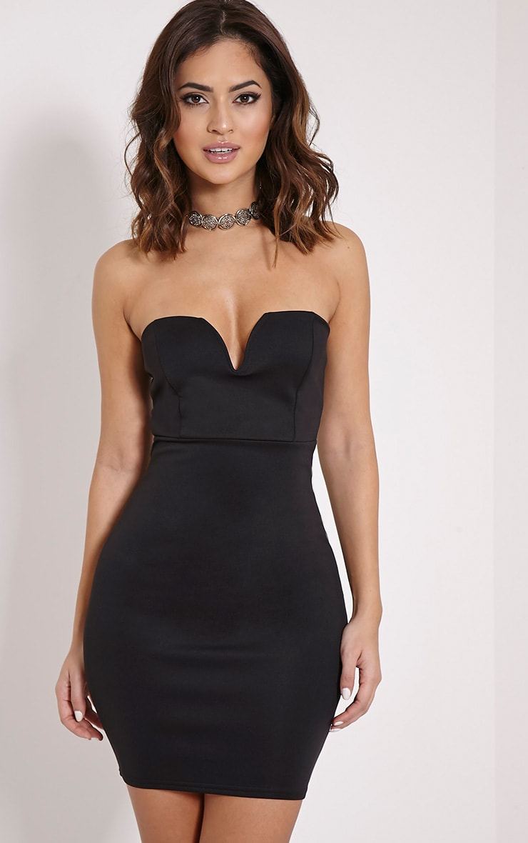 Michelle Black Bandeau Dress 1