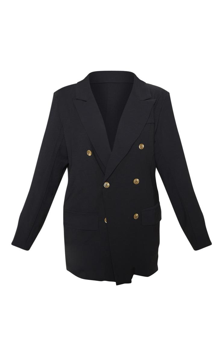 Petite Black Oversized  Tailored Blazer  3