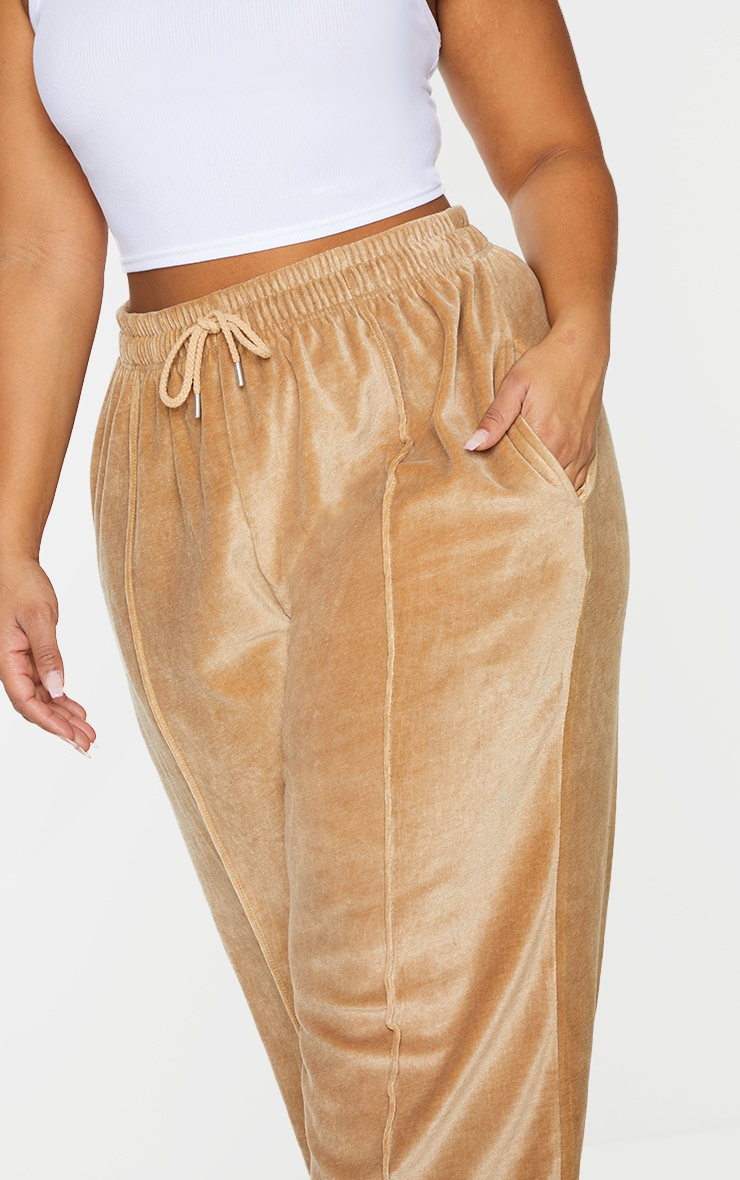 Plus Stone Towelling Wide Leg Joggers 4