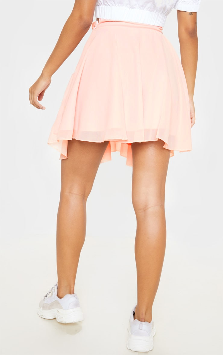 Dusty Pink Lightweight Woven Skater Skirt 4