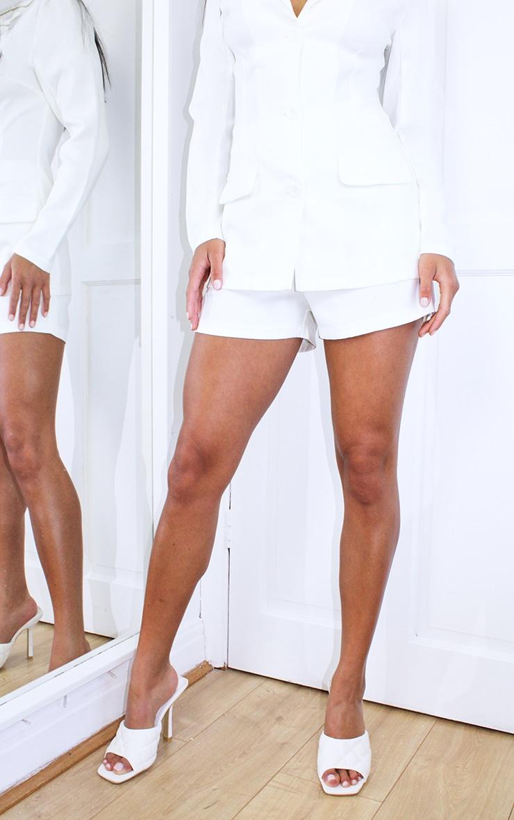 Petite Cream Suit Shorts 2