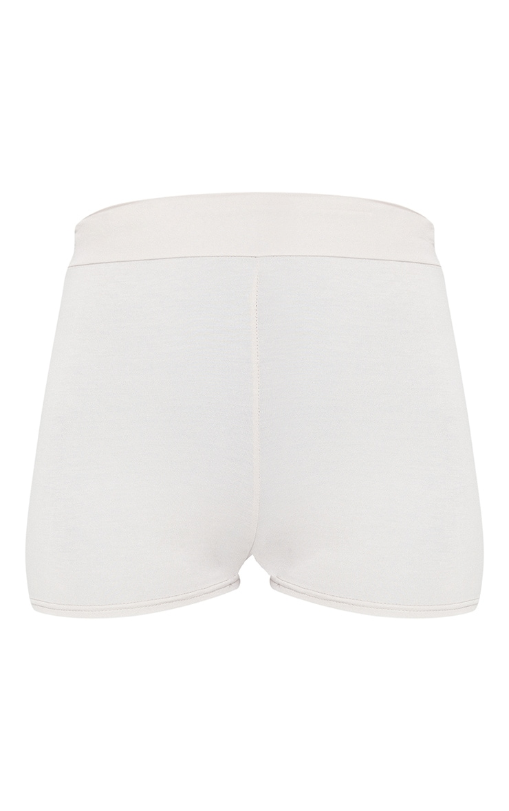 Oatmeal Basic High Waisted Shorts 5