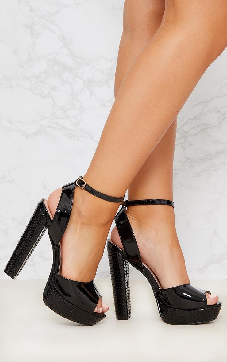 Black High Platform Heels 1