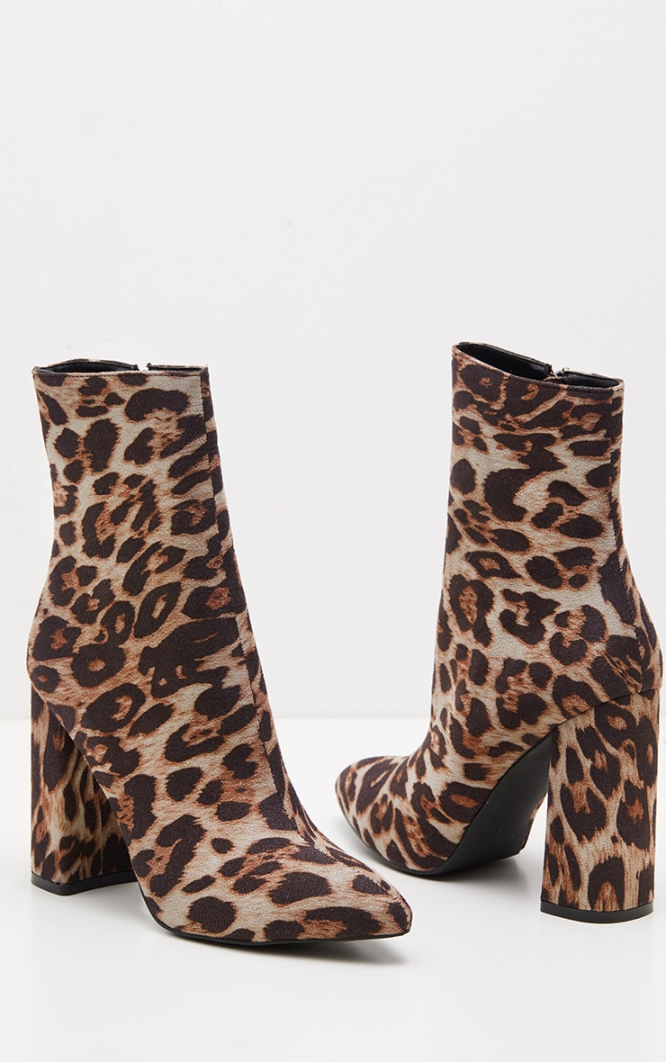 Leopard Print Heel Ankle Boot  3