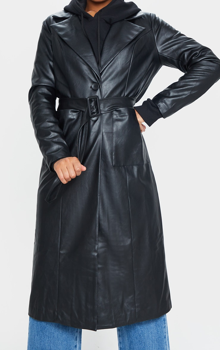 Black PU Trench 4