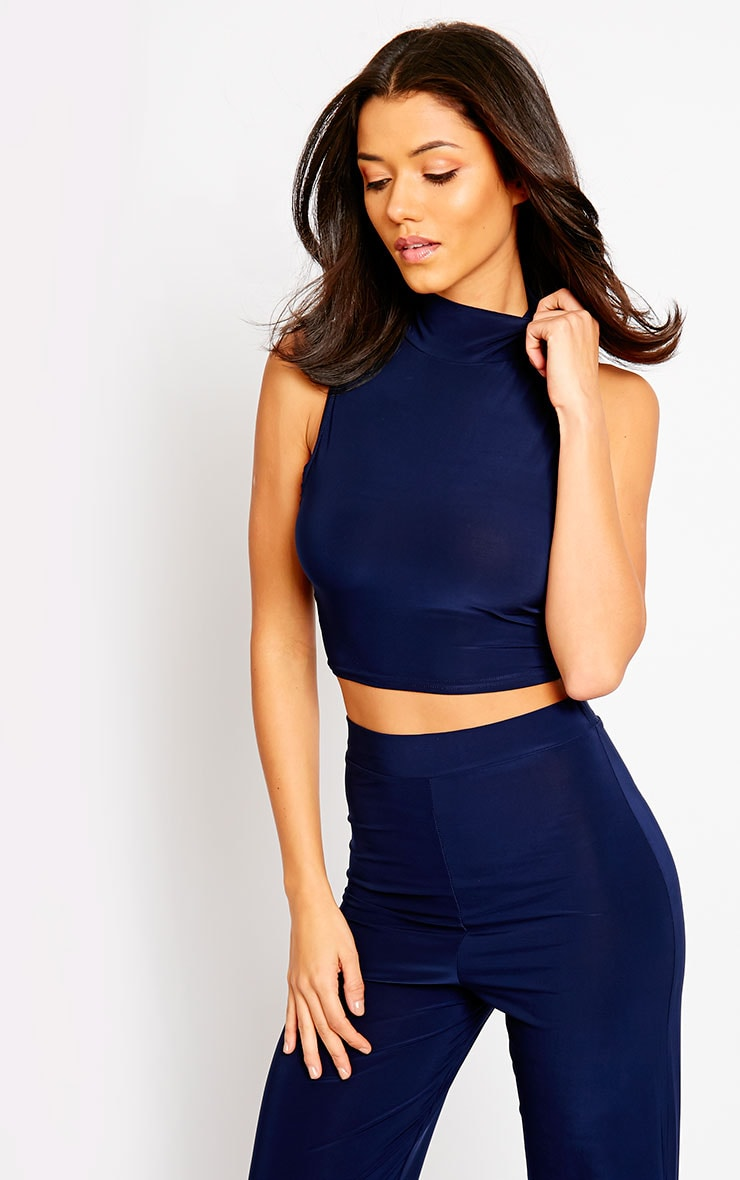 Remi Navy Soft Touch Crop Top 4