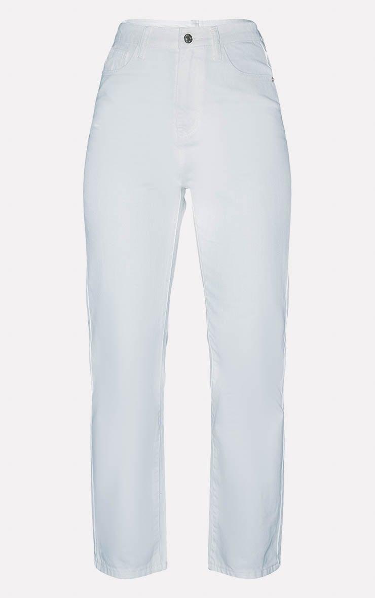 PRETTYLITTLETHING White Straight Leg Jeans  3