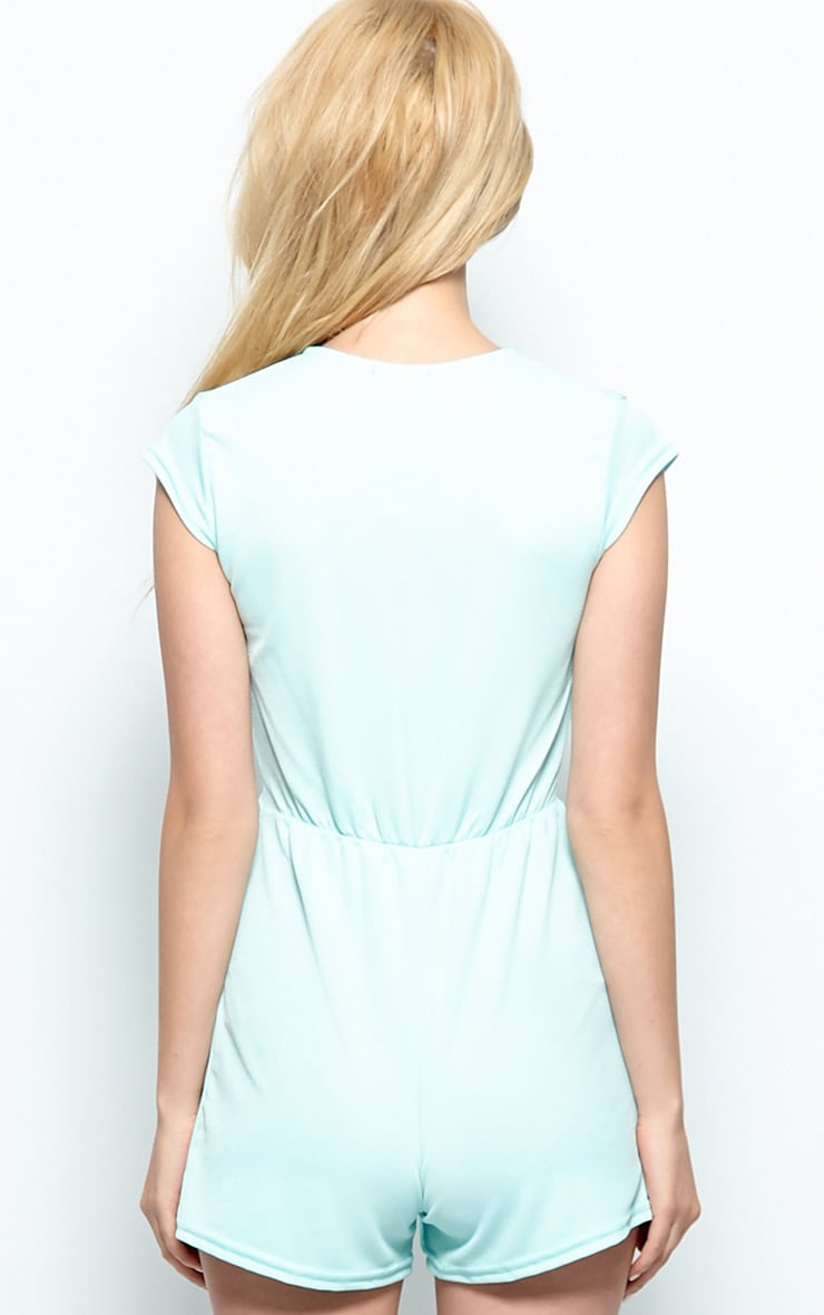 Allie Mint Low Cut Playsuit 2