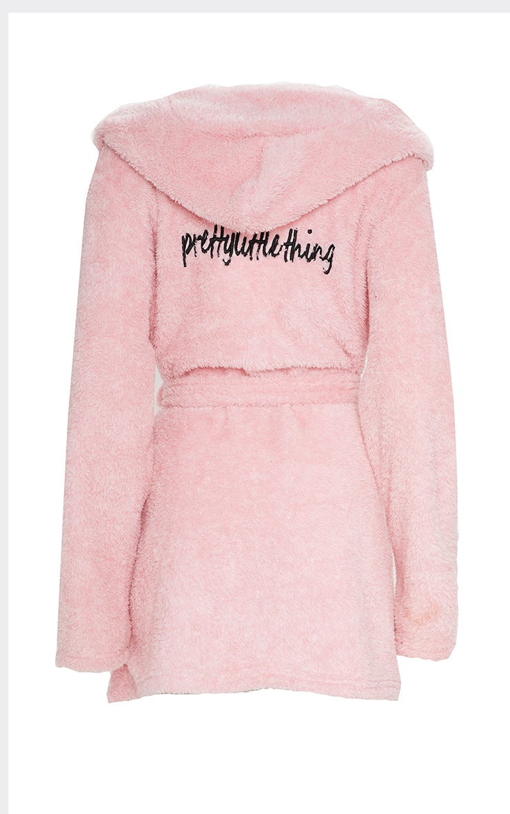 PRETTYLITTLETHING Pink Fluffy Dressing Gown 5