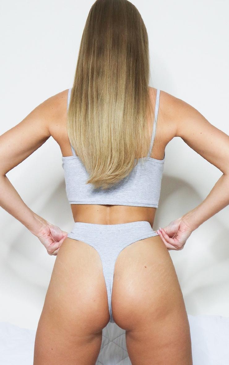Grey Basic Thong 2