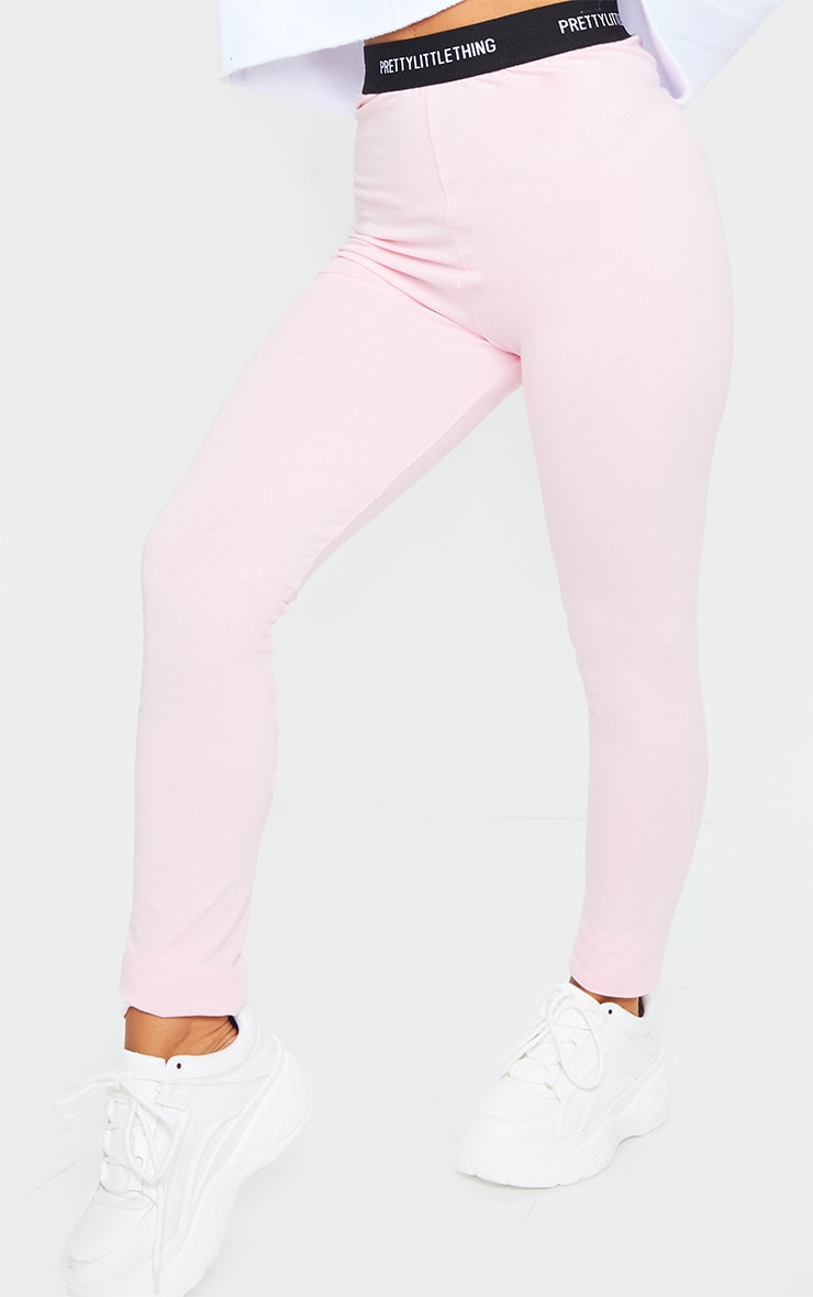 PRETTYLITTLETHING Baby Pink Tape Leggings 2