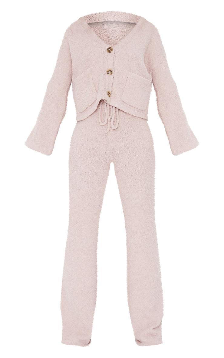 Nude Premium Fluffy Knit Wide Leg Set 5