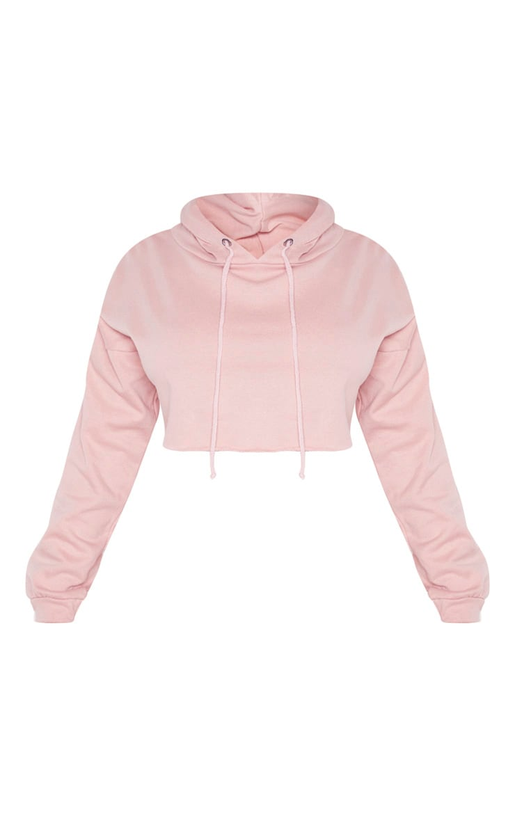 PRETTYLITTLETHING Petite Rose Cropped Hoodie 3