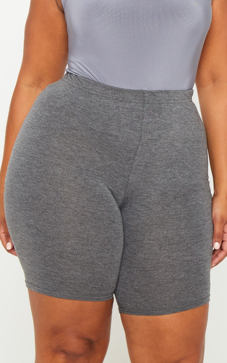 Plus Charcoal Basic Cycle Shorts 5