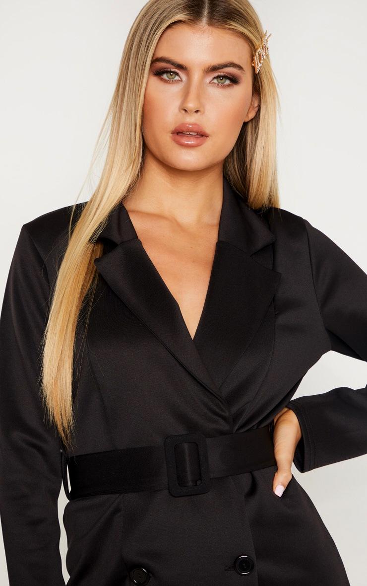 Tall Black Tailored Belt Detail Blazer Dress 5