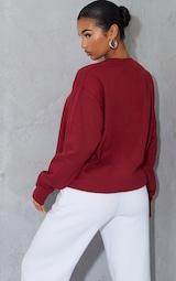 Maroon Ultimate Oversized Sweatshirt 2