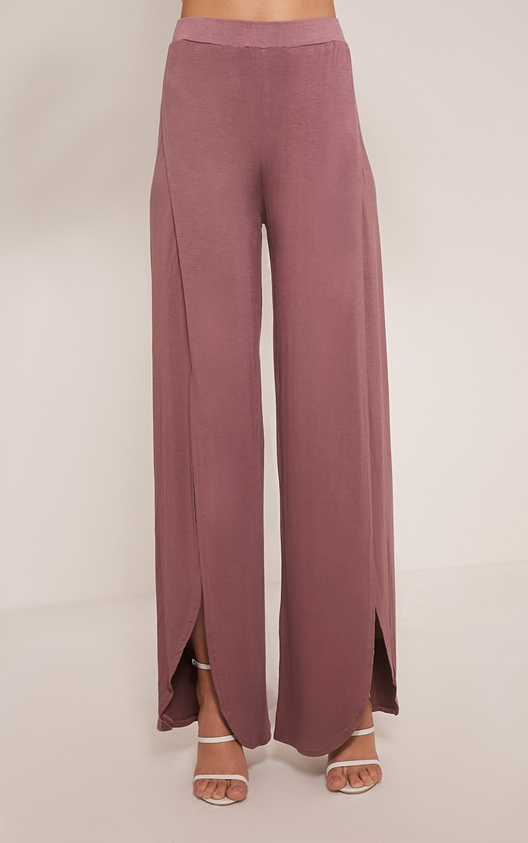 Mona Mauve Split Jersey Trousers 2