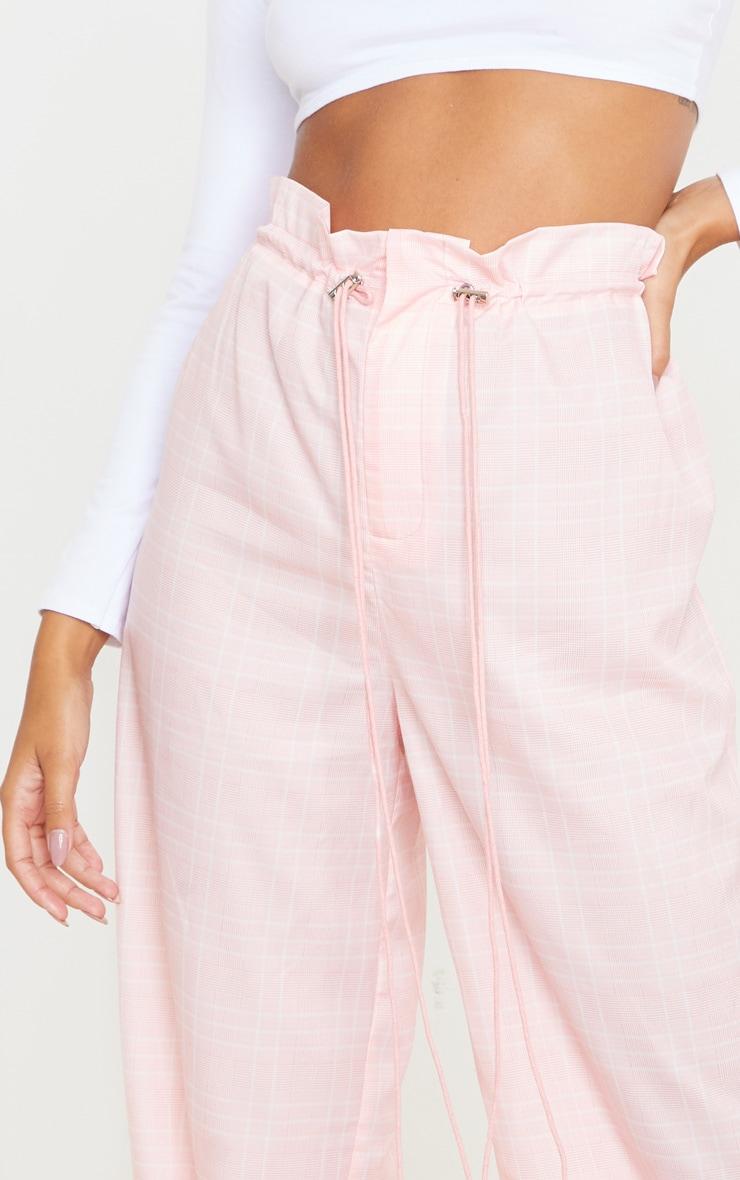 Dusty Pink Drawstring Waist Wide Leg Pants 4