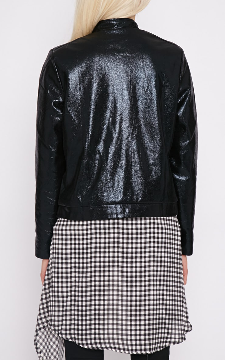 Farah Black High Shine Bomber Jacket 2