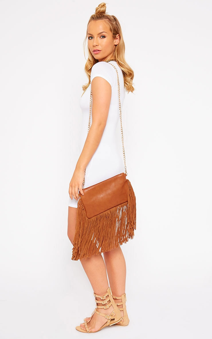 Catrine Tan Fringe Trim Bag 2