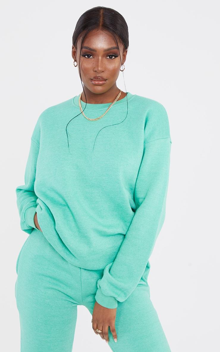 Tall Sage Green Ultimate Oversized Sweatshirt 1