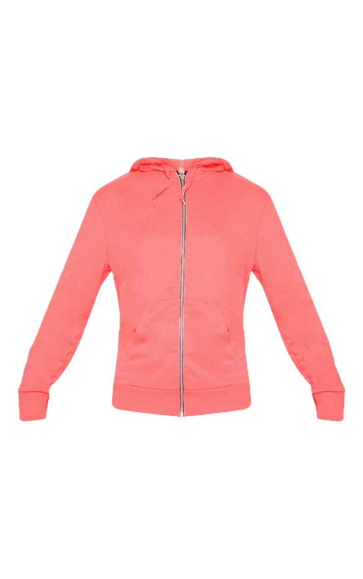 Pink Basic Gym Sweat Zip Hoodie 3