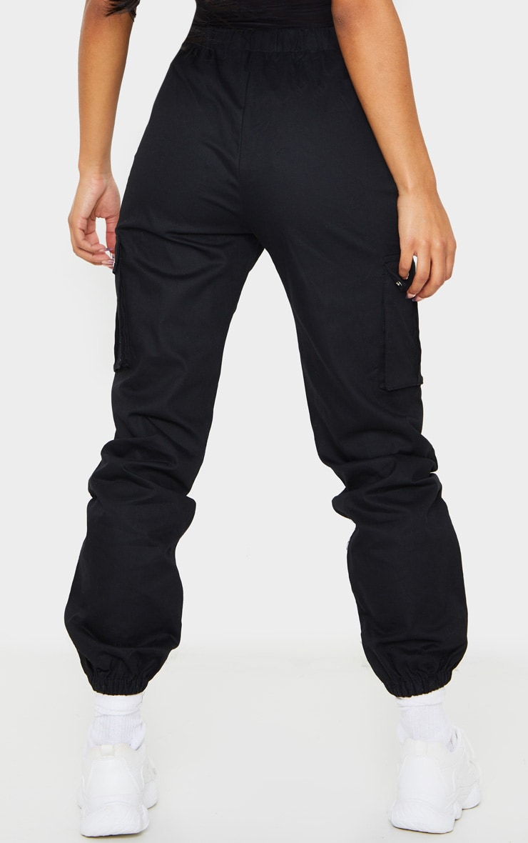 Black Pocket Detail Cargo Pants 3