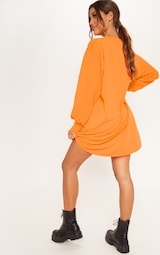 665177fd1486 Robe pull oversized orange fluo. Tricots