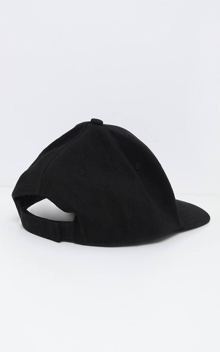 Black Plain Baseball Cap 3