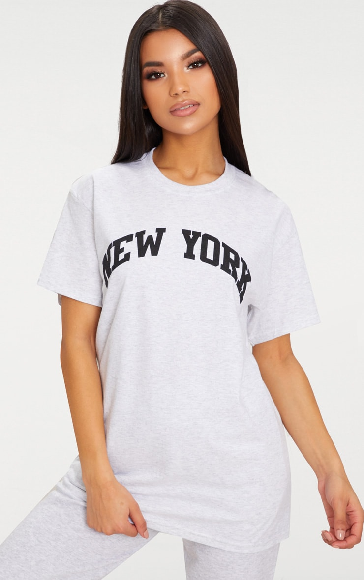 PRETTYLITTLETHING Mint Hollywood Slogan Oversized T Shirt Cheapest Price Sale Online Km0DLRFV0