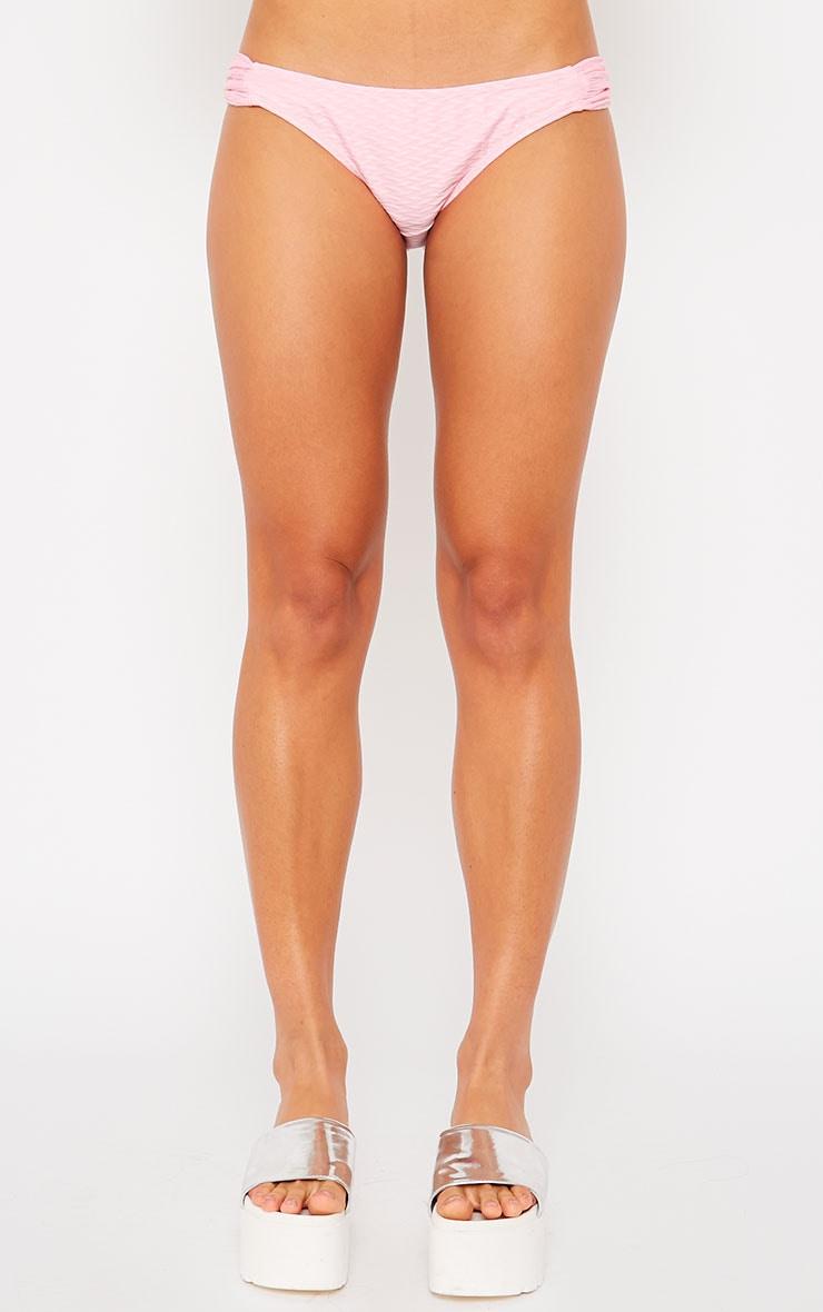 Ellen Baby Pink Textured Bikini Bottoms 2