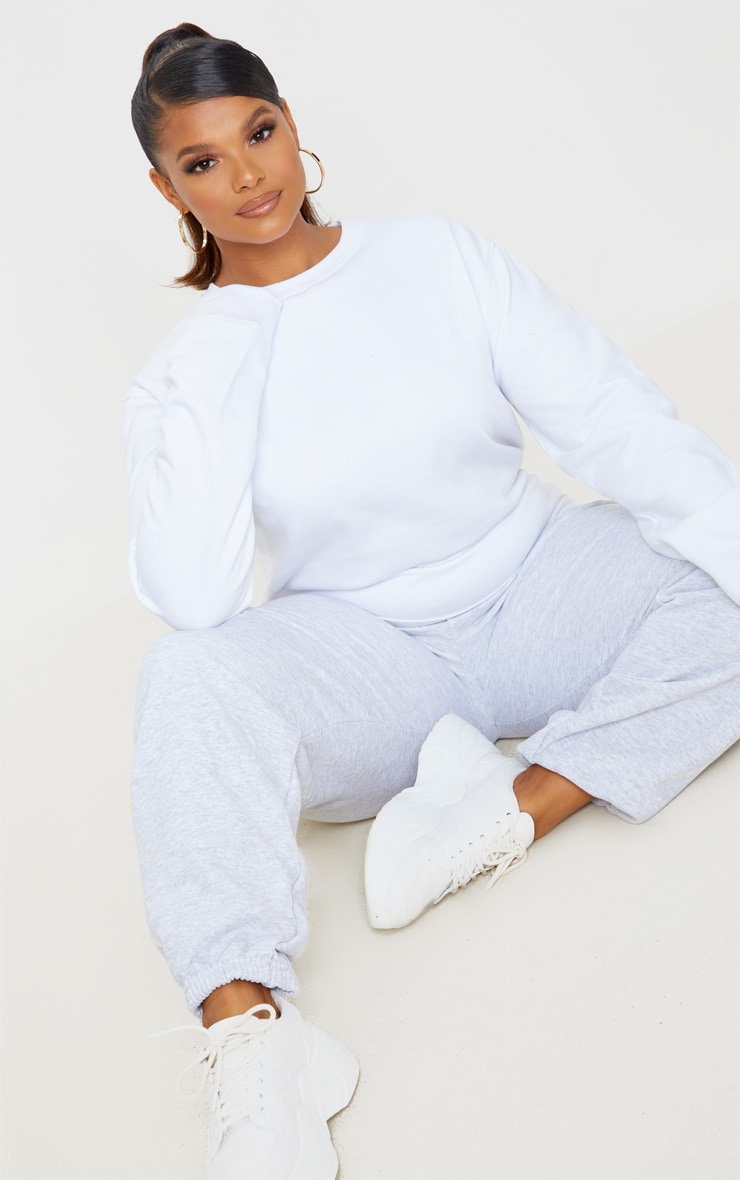 Plus White Ultimate Oversized Sweater 1