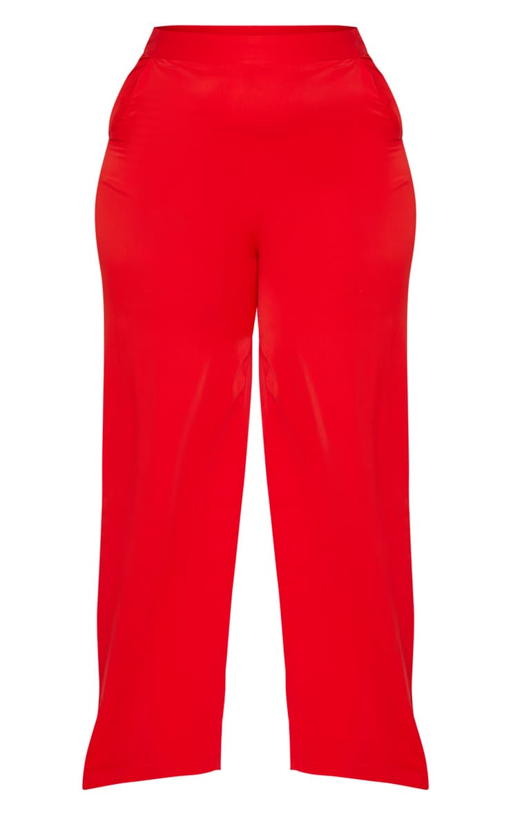 Plus Red Extreme Wide Leg Trouser 3