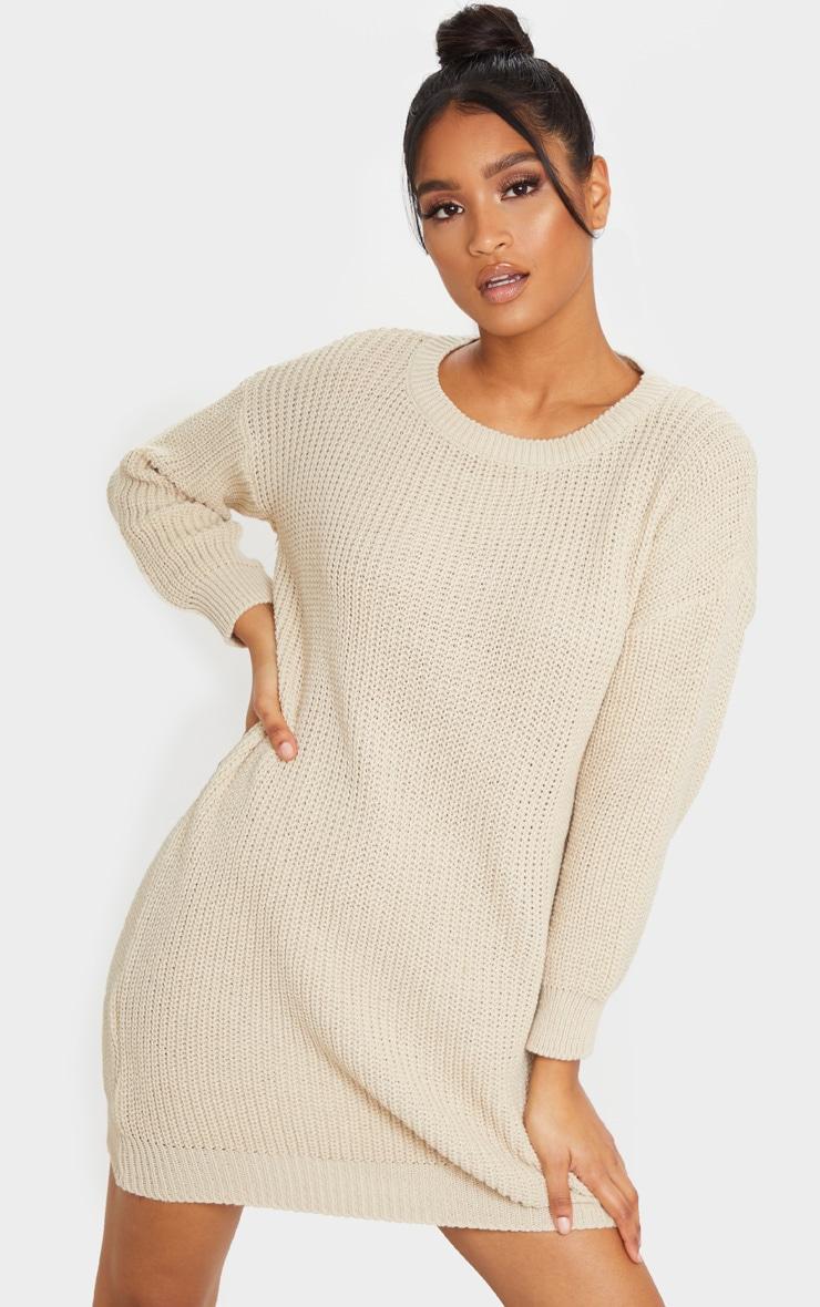 Stone Basic Knit Sweater Dress 1