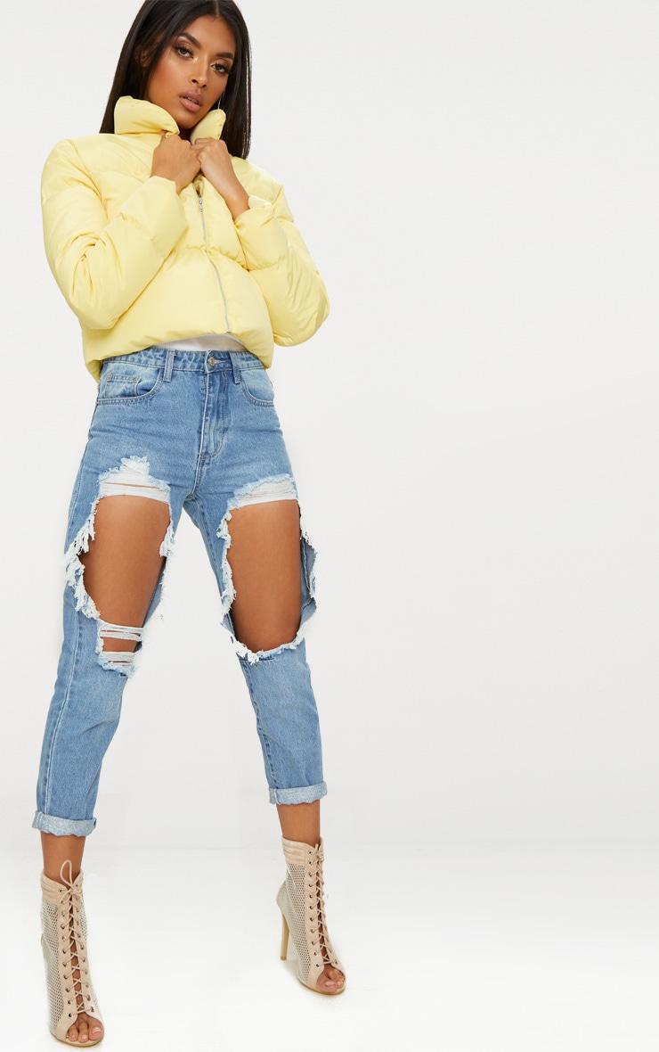 Lemon Cropped Puffer Jacket 4