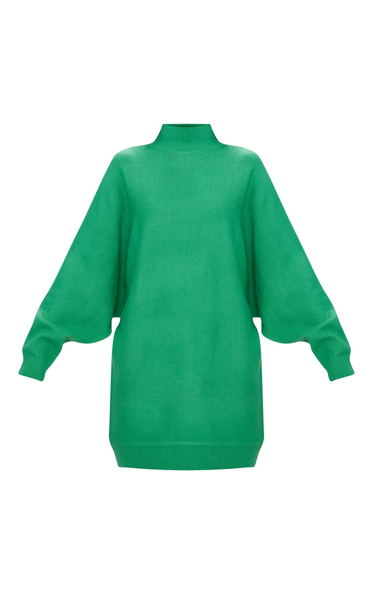 Green Oversized Jumper Dress 3