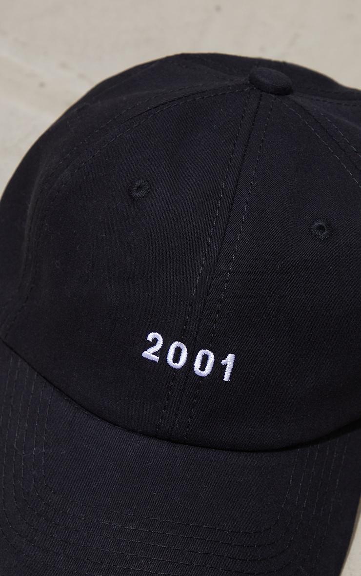 Black 2001 Baseball Cap 4
