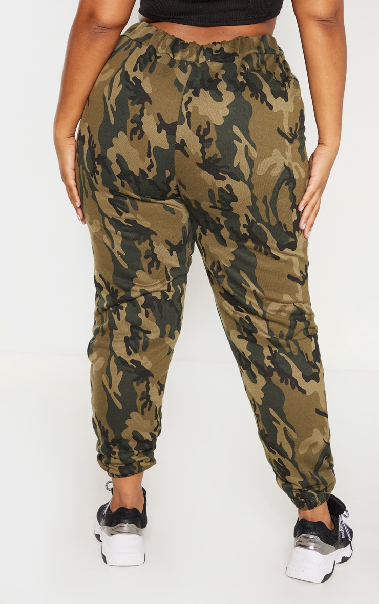 Plus Khaki Camo Track Pants 4