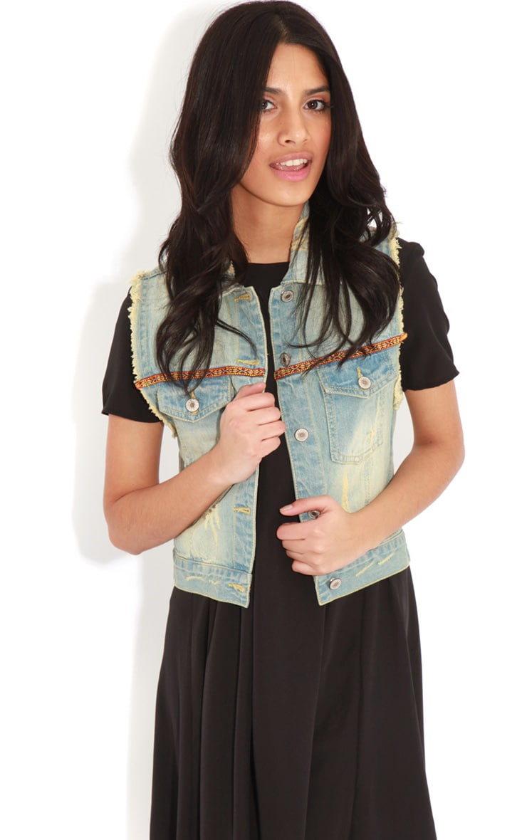 Nicola Denim Gilet With Embroidery 4