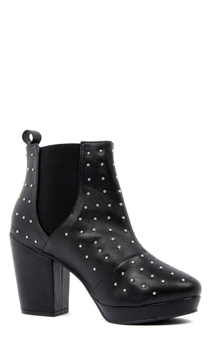 Kasey Black Studded Ankle Boots 2