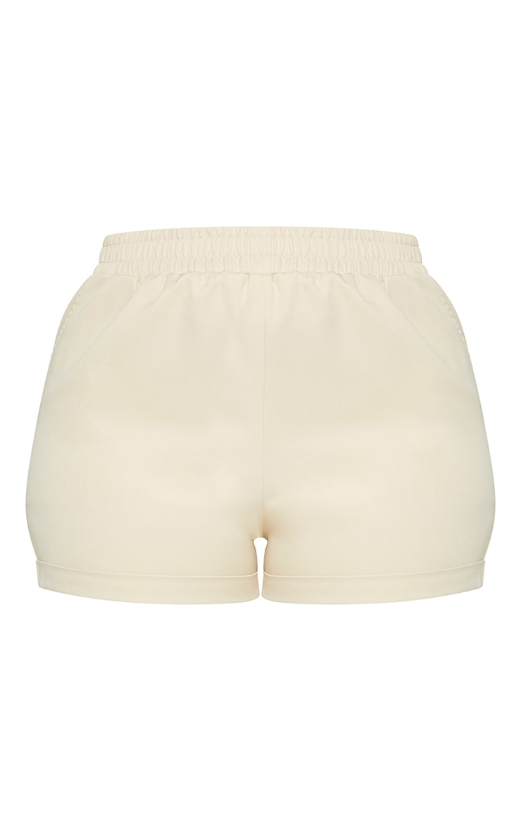 Plus Stone Ruched Waist Suit Shorts 6
